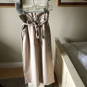 NWOT Zara paper bag pants